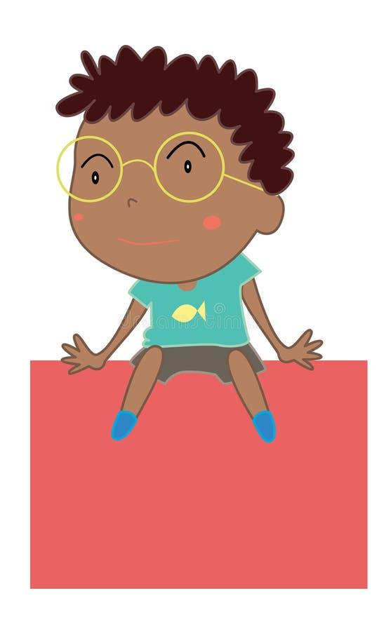 Bande dessinée simple d'enfant illustration libre de droits