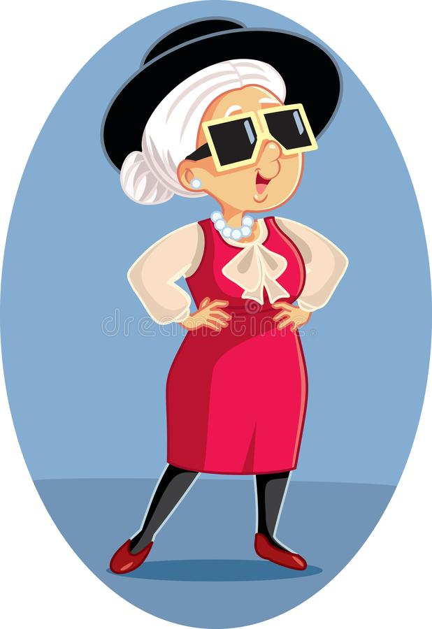 Bande dessinée supérieure de femme de mode élégante à la mode illustration libre de droits