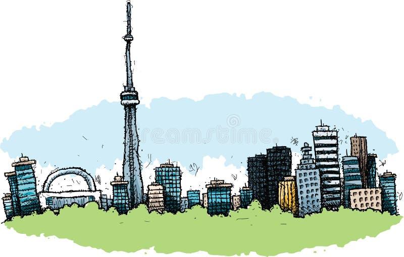 Bande dessinée Toronto illustration de vecteur