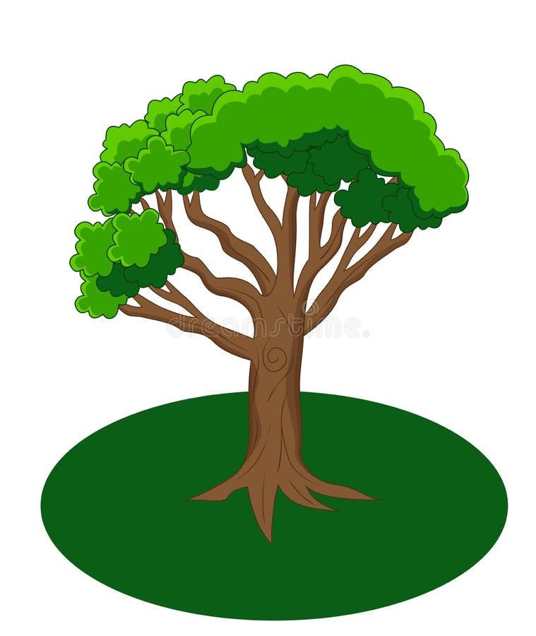 bande dessinée verte d'arbre illustration de vecteur