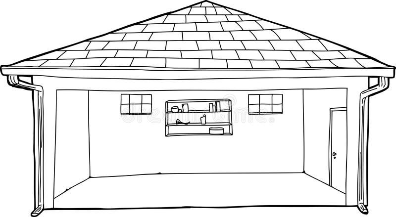 Bande dessin e vide d 39 ensemble de garage illustration stock image 50458969 - Dessin garage ...