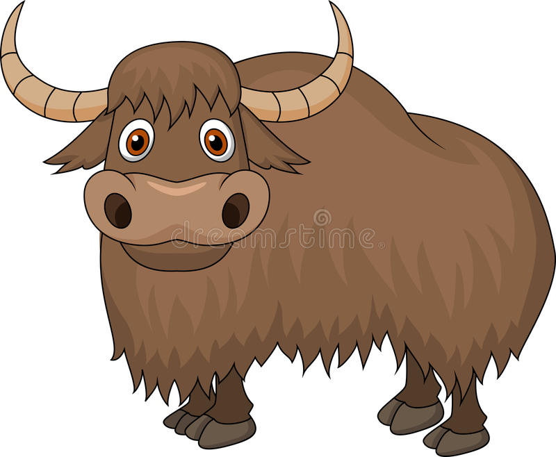 Bande dessinée de yaks illustration stock