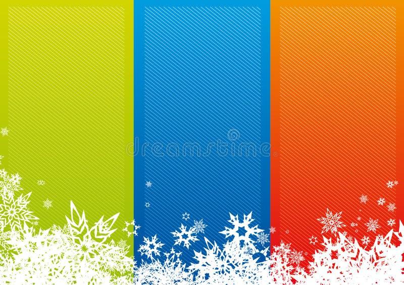 Download Bande Di Colore Con I Fiocchi Di Neve. Illustrazione Vettoriale - Illustrazione di ghiaccio, decorazione: 3875027
