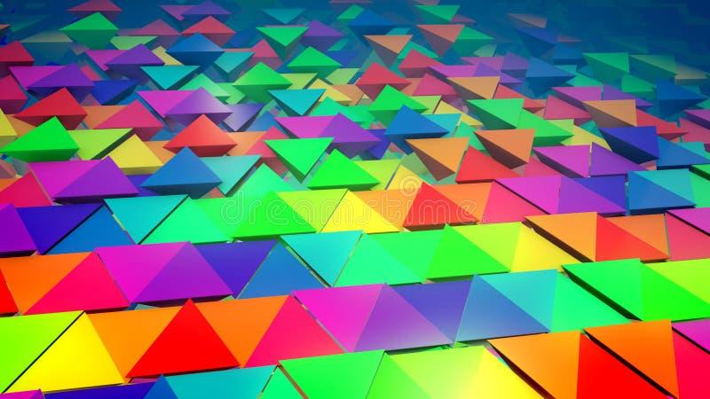 Bande di lunghe piramidi puerili illustrazione di stock