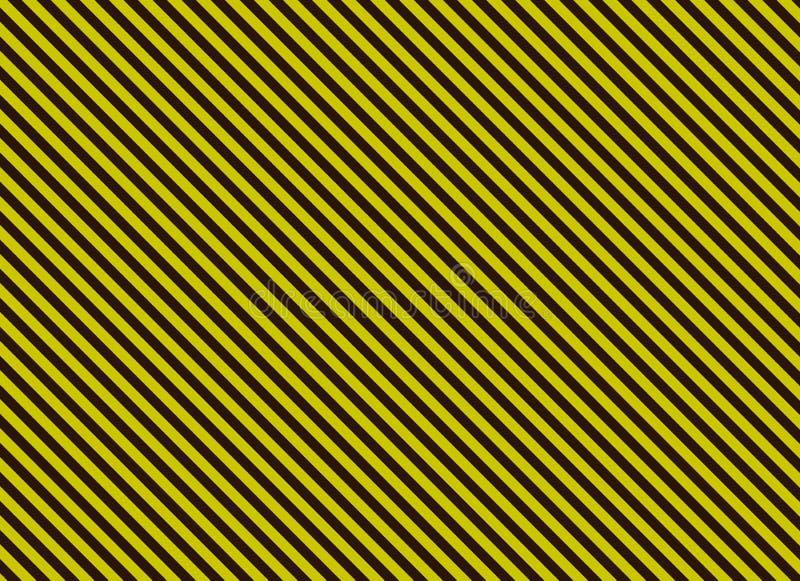 Bande diagonali gialle e nere di alternativa in bianco illustrazione vettoriale