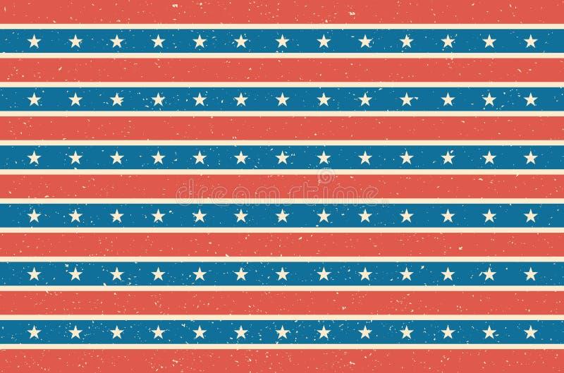 Bande e fondo delle stelle Disegno della bandierina degli S Illustrazione di vettore immagini stock