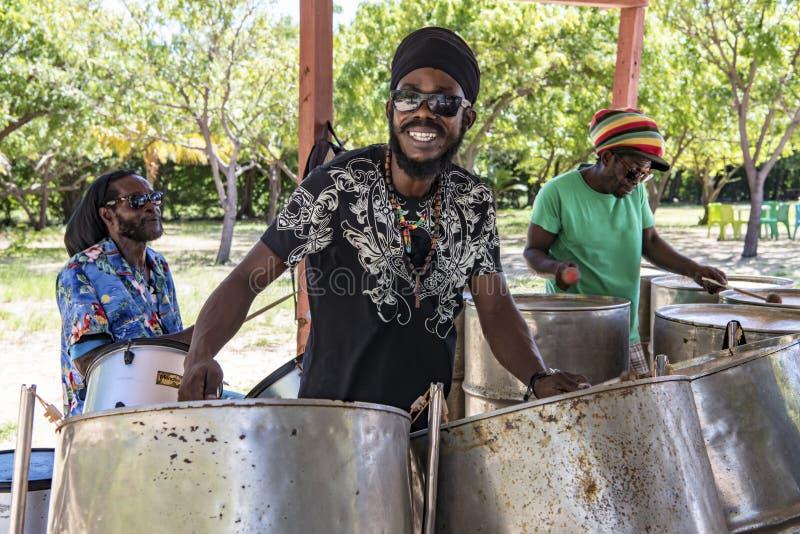 Bande en acier Jamaïque photos libres de droits