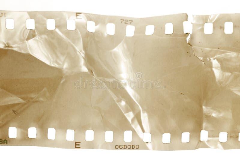 Bande endommagée de film images libres de droits