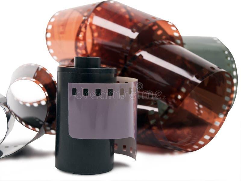Bande et petit pain de film photos libres de droits