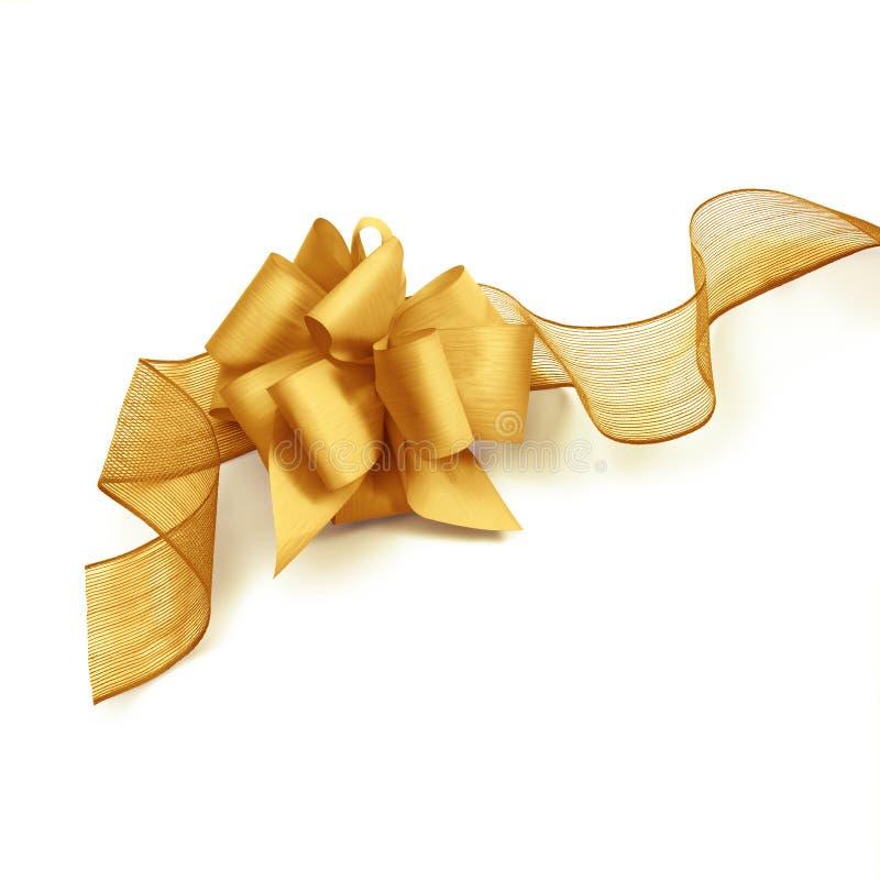Bande et proue d'or de Noël image libre de droits