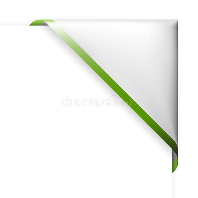 Bande faisante le coin blanche avec le cadre vert illustration de vecteur