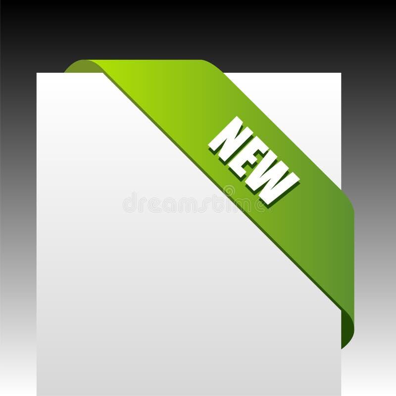 Bande faisante le coin verte neuve d'affaires illustration stock