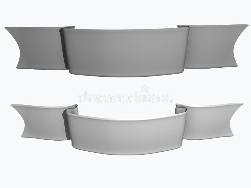 Bande grise illustration de vecteur