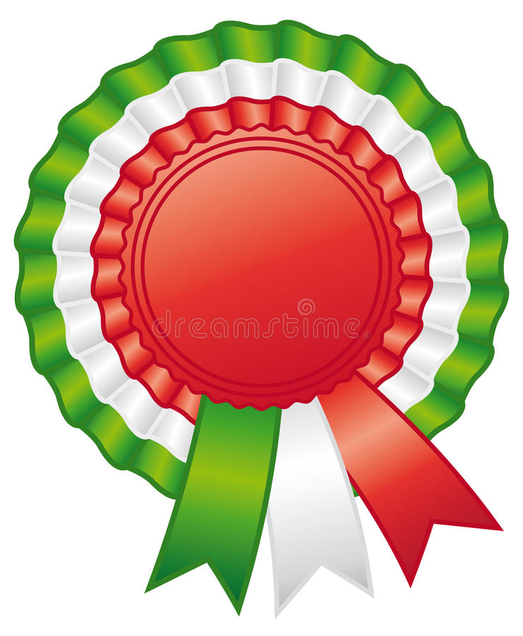 Bande italienne de rosette. illustration stock