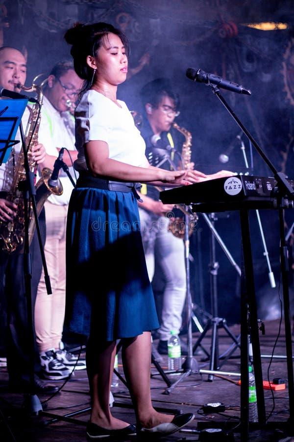 Bande jouant les instruments musicaux image stock