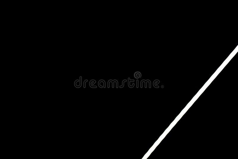 Bande légère menée blanche sur le mur noir image stock