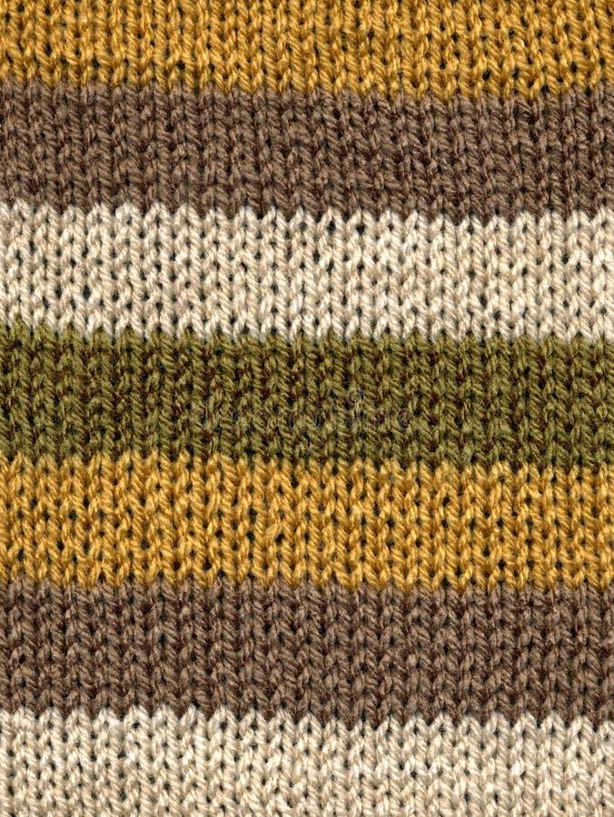 Bande lavorate a maglia delle lane. fotografia stock