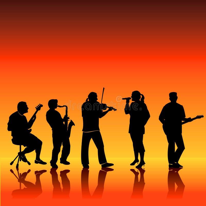Bande musicale illustration stock