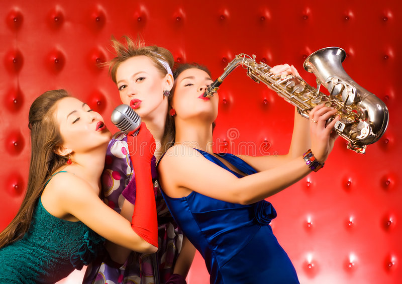 Bande musicale photo stock