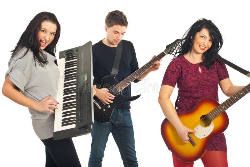 Bande musicale gaie image libre de droits