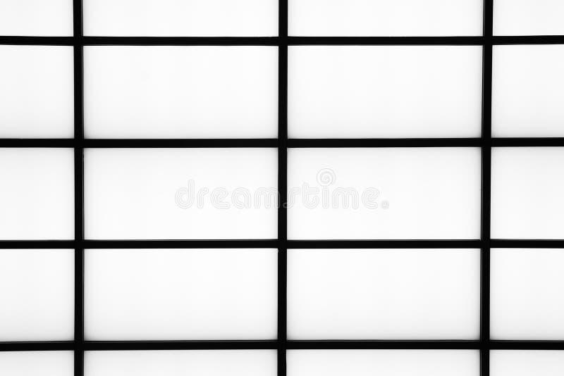 Bande nere geometriche astratte su un fondo bianco luminoso, m. fotografie stock