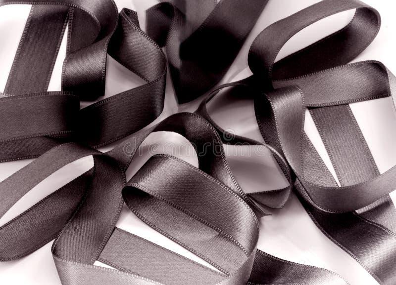 Bande noire de tissu   images stock