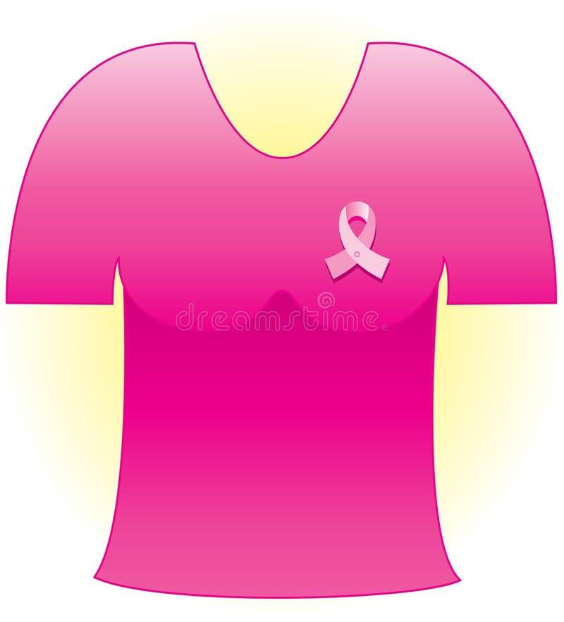 Bande rose de Cancer illustration stock