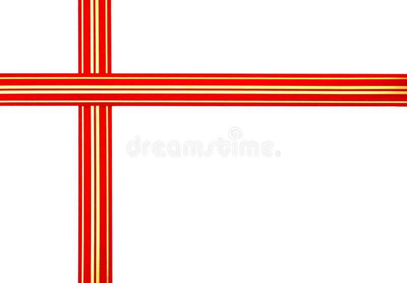 Bande rouge image libre de droits