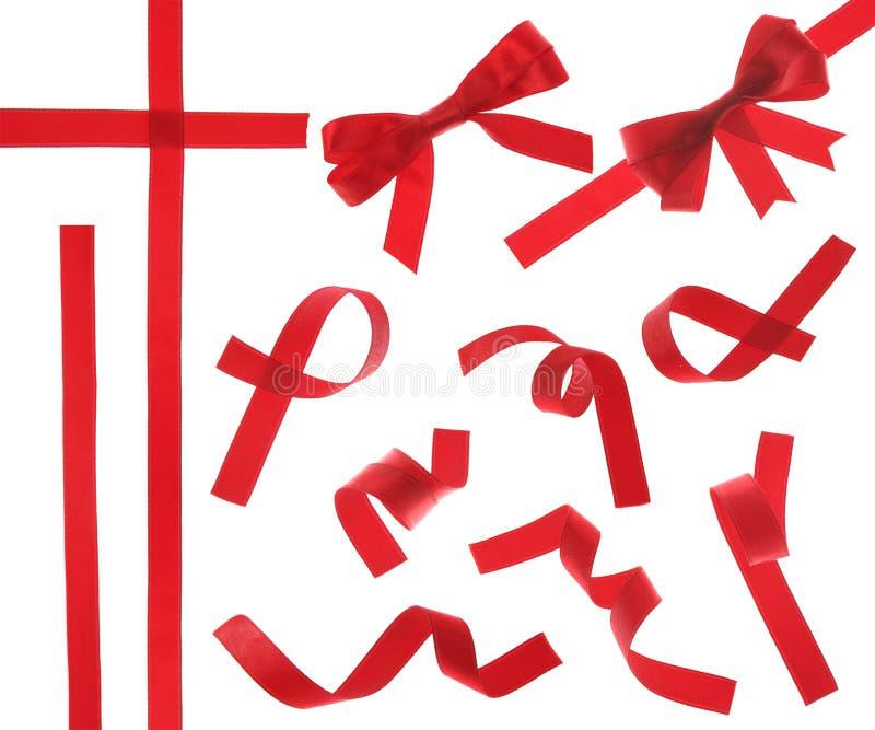 Bande rouge (d'isolement) image libre de droits