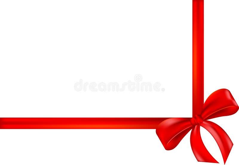 Bande rouge de cadeau, proue, enveloppe illustration libre de droits