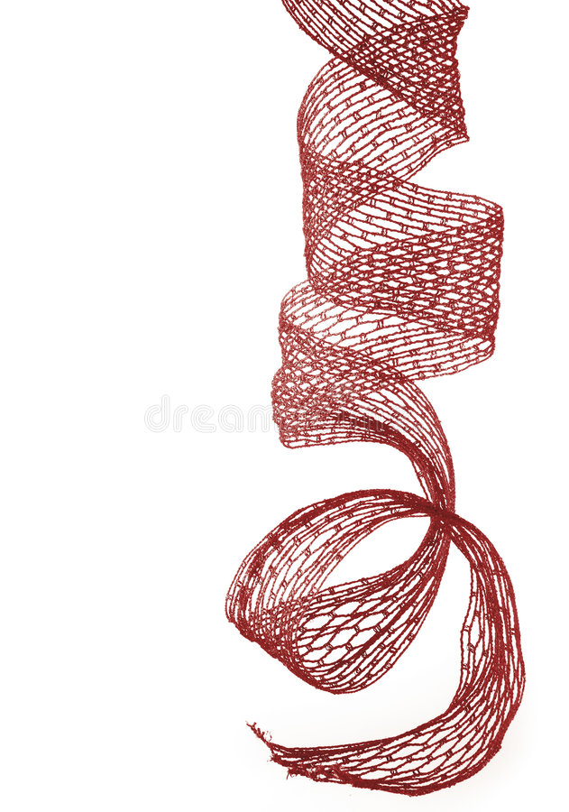 Bande rouge de Noël photo stock