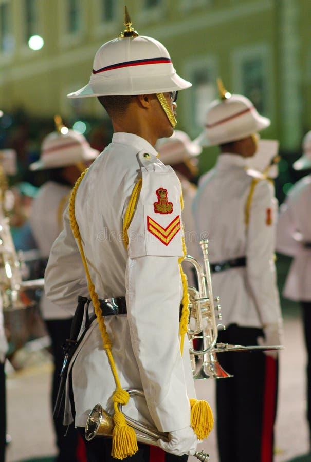 Bande royale Bogle de régiment des Bermudes photo libre de droits