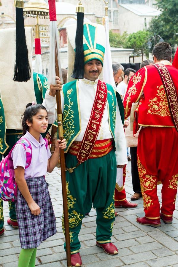 Bande traditionnelle de Mehter de turc image libre de droits