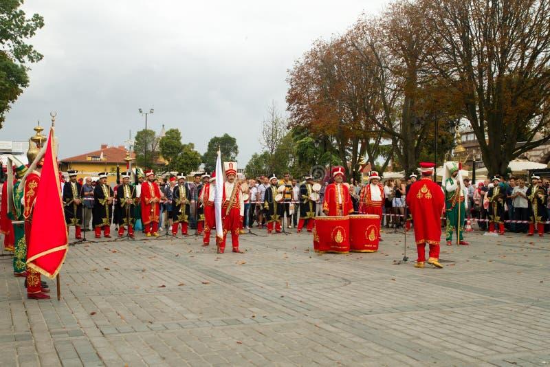 Bande traditionnelle de Mehter de turc photos stock