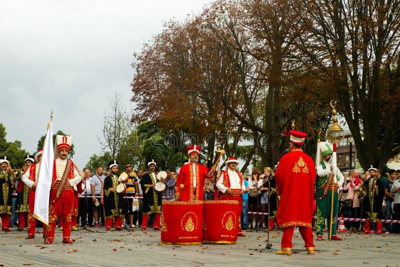 Bande traditionnelle de Mehter de turc photographie stock libre de droits