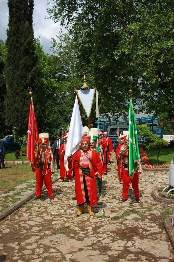 Bande traditionnelle de musique de tabouret (Mehter) images stock