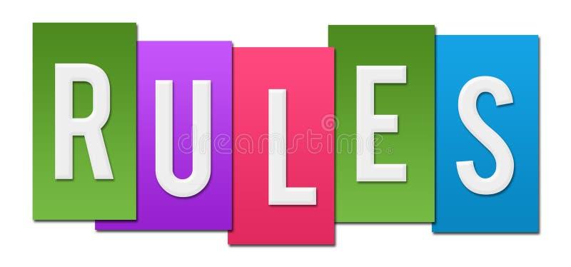 Bande variopinte di regole royalty illustrazione gratis