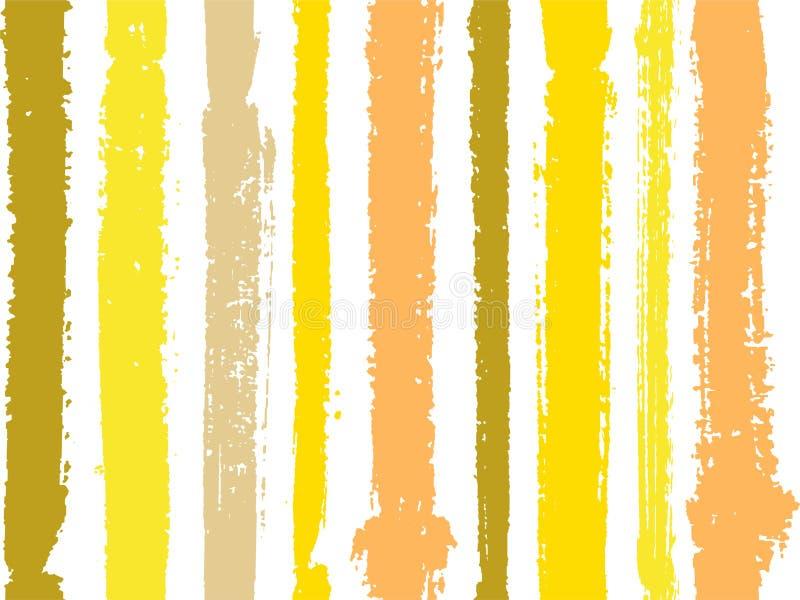 Bande verticali delle linee spesse e sottili modello senza cuciture dell'inchiostro o della pittura di vettore su bianco illustrazione di stock