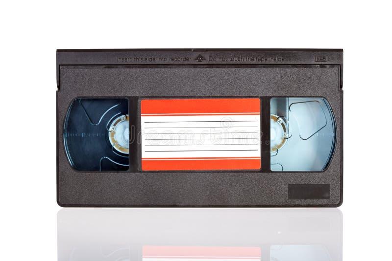 Bande vidéo en cassettes d'isolement sur le blanc photographie stock