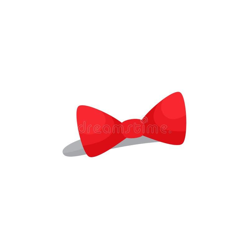 Bandeau rouge d'arc, accessoire de cheveux pour une petite fille illustration stock