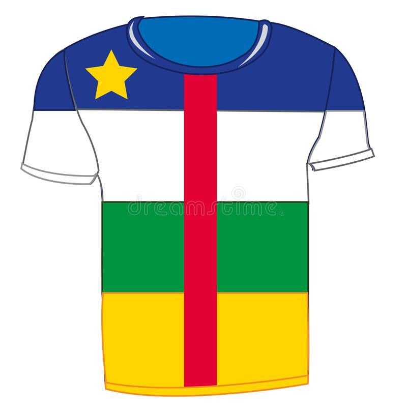 Bandeira África central do t-shirt ilustração stock