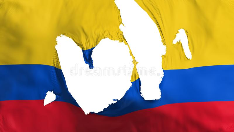 Bandeira áspera de Colômbia ilustração do vetor