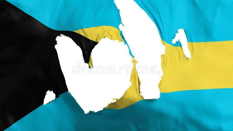 Bandeira áspera do Bahamas ilustração do vetor