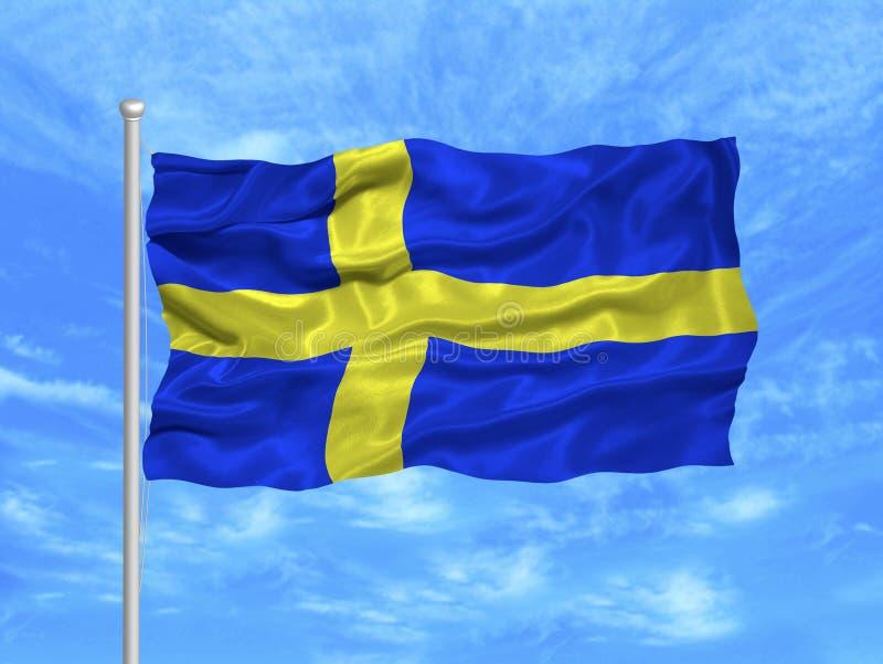 Bandeira 1 de Sweden ilustração do vetor