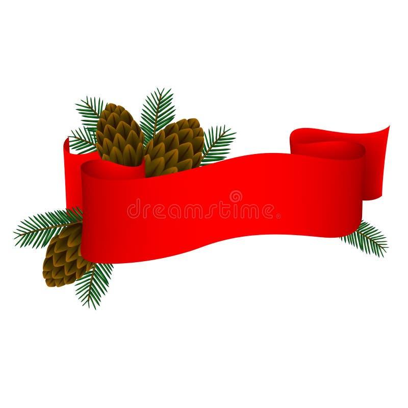 Bandeira 1 do Natal ilustração stock