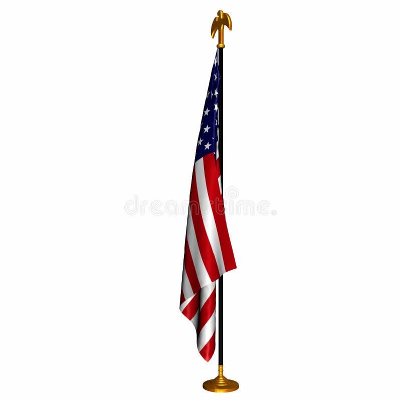 Bandeira 1 dos E.U. ilustração do vetor
