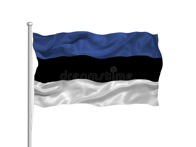 Bandeira 2 de Estónia ilustração do vetor