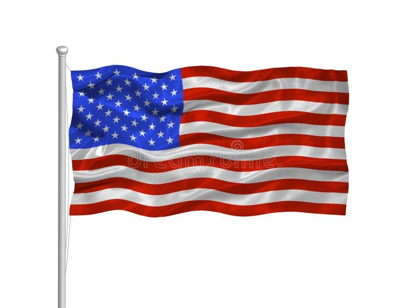 Bandeira 2 de Estados Unidos ilustração royalty free