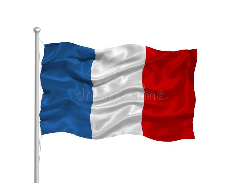 Bandeira 2 de France ilustração royalty free