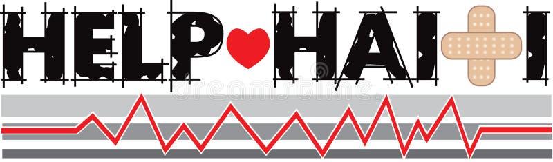 Bandeira 2 de Haiti da ajuda